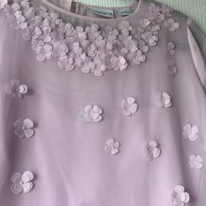 Liz Claiborne Tops - Lavender Flower Appliqué Top